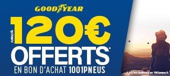 Jusqu'à 120€ Offerts avec GOODYEAR!