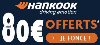 HANKOOK - jusqu'à 80€ offerts* !